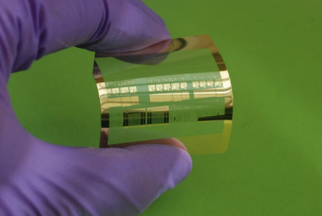 the world's fastest silicon-based flexible transistors
