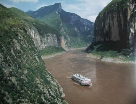 Yangtze River at Qutang Gorge, China